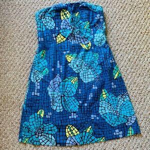 Lily Pulitzer strapless dress Mosaic pattern sz 10